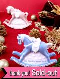 <英国流クリスマス:WEDGWOOD>レア♪ロマンチックなロッキングホースのツリーオーナメント