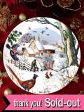<英国流クリスマス:WEDGWOOD限定品>「The Woodsman」英国カントリーサイドの森の木こりさんのクリスマス・プレート「プレートハンガー付」