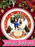 <英国流クリスマス>「ウェッジウッド:A Child's Christmas」子供たちの楽しいクリスマス・プレート「プレートスタンド付」