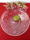 1940年代:立体的なガラス細工♪直径が32cm以上もある素晴らしいアンティークガラスの大皿