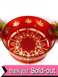 1940年代:光のお花のような赤ガラス♪とても大きなアートフルなボウル:通常価格9480円→