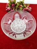 <フランス製>1940年代:大輪のお花のガラス細工♪アンティークガラスが美しいとても大きなアレンジメントボウル