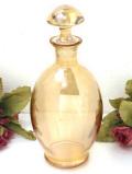 1940年代:輝くシャンパンゴールドのガラス細工♪ぽったりと優しいフォルムのデカンタ