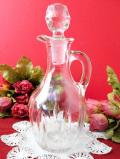 1930年代:ぽったりとした英国アンティークガラスのビネガーボトル