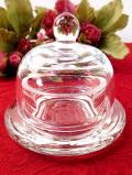 1950年代:ぽったりとぶ厚いアンティークガラス♪気泡もきれいなトリンケットBOX