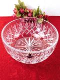 1950年代:優雅なクリスタルガラス♪光のお花の大きなまあるいガラスボウル