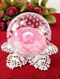 <英国ハンドメイド>アートフルな気泡たち♪美しく表現された大きなガラスのペーパーウェイト