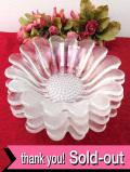 1930年代:光のお花♪とてもぶ厚いアートフルなアンティークガラスのボウルセット「4個セット」