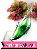 <イタリア製>優雅なムラノガラス♪お船のようなフォルムの美しいアートフルなお皿