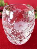 1940年代:ガラス細工のお花たち♪ぶ厚いクリスタルガラスの大きな光のボウル