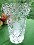 1940年代:お花たちのグラヴィール装飾♪クリスタルガラスが美しいフラワーベース
