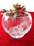 1940年代:ぽったりとしたまあるい光♪クリスタルガラスの立体的なガラス細工のボウル