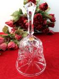 1950年代:クリスタル美人♪立体的なガラス細工の音色の美しい大きなヴィンテージベル