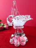 <英国ハンドメイド>1950年代:素晴らしくアートフルな透明ガラスの野鳥さん