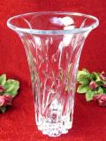 1930年代:お花たちの立体的なガラス細工♪クリスタルガラスのとても大きなフラワーベース