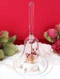 <英国ビンテージ>「Ruby Wedding」♪音色の美しいクリスタルガラスのベル