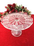 1930年代:大輪のお花のよう♪英国アンティークガラスのケーキスタンド