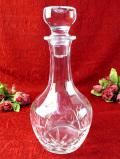 1940年代:立体的なガラス細工が美しい♪きれいなクリスタルガラスの大きなデカンタ