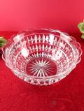 ★1930年代:立体的なお花たち♪ぶ厚いクリスタルガラスの大きな光のボウル