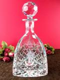<英国ビンテージ>「Majestic Crystal」クリスタルガラスの深いカットの輝きが美しい三角形の大きなデカンタ