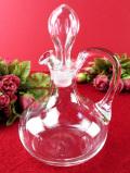 1930年代:ガラス細工が美しい英国アンティークガラスの丸くて大きなビネガーポット