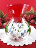 <英国ハンドペイント>イングリッシュブルーベルのお花たち♪優しいフォルムのフラワーベース
