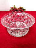 1930年代:優雅なクリスタルガラス♪光のお花のとても大きなガラスボウル