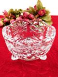1950年代:優雅なクリスタルガラス♪光のお花の足つきのまあるいガラスボウル