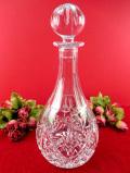 1940年代:立体的なガラス細工が美しい♪きれいなクリスタルガラスの大きな光のデカンタ