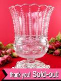 1910年代:エドワーディアン時代♪とても分厚いアンティークガラスの大きなフラワーベース
