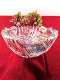 <英国ミッドセンチュリー>光の花びら♪クリスタルガラスがきれいな優雅なボウル
