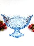 1930年代:立体的なバラのお花のガラス細工♪お船のようなフォルムのとても大きなガラスボウル