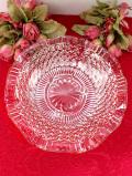 1930年代:英国アンティークガラス♪大輪のお花のような花びらがきれいなガラスボウル