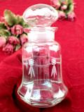 1940年代:透明なアンティークガラス♪美しいフォルムの優雅な保存ビン