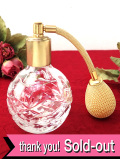 <ロイヤルアルバート>レア♪アートフルなガラス細工♪透明ガラスが美しいパフュームスプレーボトル