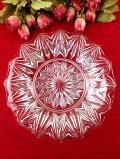 <英国ミッドセンチュリー>立体的なガラス細工♪美しい大輪のお花のようなガラス皿