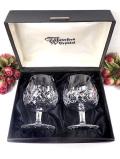<WATERFORD>「Lismore」(リズモア)水晶細工のようなガラス細工♪分厚いクリスタルガラスが美しいブランデーグラス「2個セット:お箱付」
