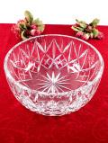 1940年代:ずっしりと重い♪クリスタルガラスがきれいな光のお花の大きなボウル