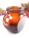 <英国ミッドセンチュリー>「MARMITE」深いアンバーガラスがきれいな愛らしいボトル