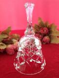 <英国ミッドセンチュリー>美しい音色♪立体的なガラス細工が美しい大きなクリスタルガラスのベル