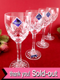<廃盤レア♪EDINBURAGH CRYSTAL>素晴らしいカットガラス♪スコットランドの名門クリスタルガラスのワイングラス「4個セット:お箱付」