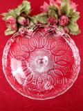 <1930年代>大輪のお花のよう♪英国アンティークガラスのケーキスタンド