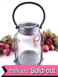 <英国ビンテージ>懐かしさが暖かい♪ブリキの持ち手付きカバーに入ったカントリーなガラス瓶