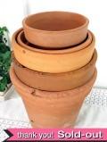 いいお味になった英国のヴィンテージの素焼きの鉢 「5個セット」