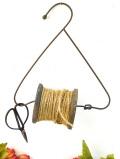<英国アンティーク農具>1910年代:とても珍しいアイアンワークの麻紐の糸巻きとはさみセット