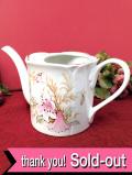 <Royal Winton>カントリーサイドの大輪のユリのお花♪ロマンチックな陶器細工のジョーロ