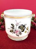 <Crown Devon>英国のバラのお花たち♪金彩もきれいなロマンティックで大きな鉢カバー