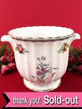 <Spode>英国のフルーツとお花たち♪左右に持ち手が付いたロマンティックなプラントポット