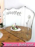 1930年代:お花のデザインが優雅な豪華な英国の大きなアンティークミラー