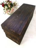 1920年代:英国アンティーク♪いいお味になったとても大きな収納木箱